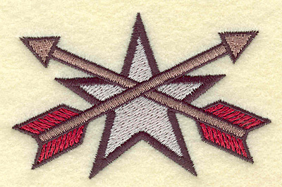 Embroidery Design: Star with arrows 3.51w X 2.25h