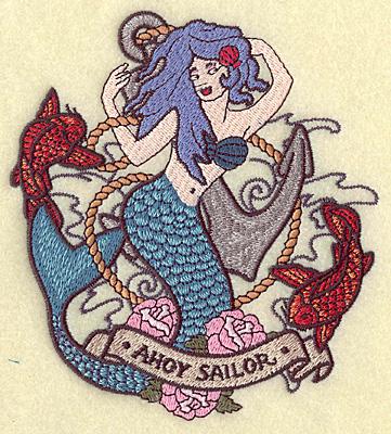 Embroidery Design: Mermaid 5.45w X 4.97h