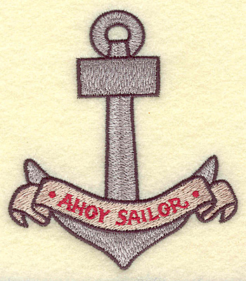 Embroidery Design: Anchor  3.39w X 3.85h