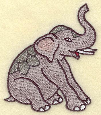 Embroidery Design: Elephant 3.36w X 3.88h