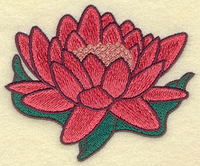 Embroidery Design: Water Lilly 3.90w X 3.28h