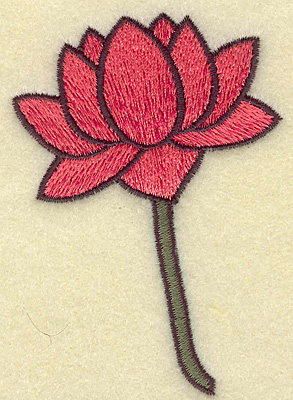 Embroidery Design: Flower 2.46w X 3.53h