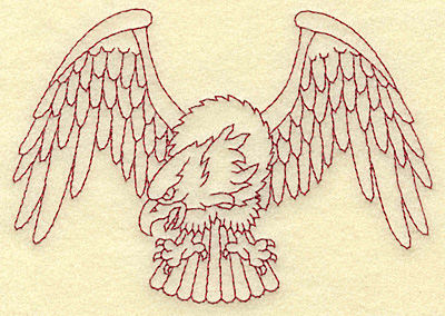 Embroidery Design: American Eagle 4.98w X 3.51h