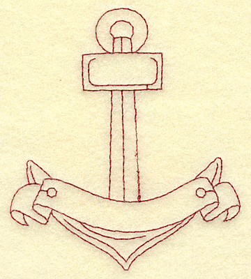 Embroidery Design: Anchor redwork 3.39w X 3.87h