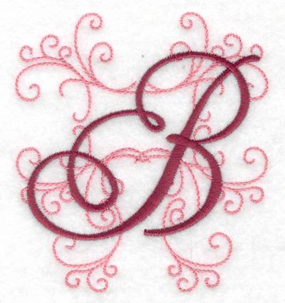 Embroidery Design: B small 3.48w X 3.88h