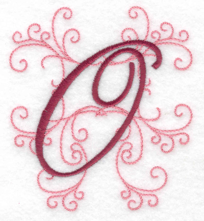 Embroidery Design: O small 3.48w X 3.88h