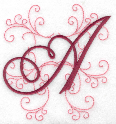 Embroidery Design: A large 4.65w X 4.97h