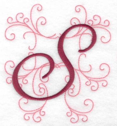 Embroidery Design: S large 4.46w X 4.97h