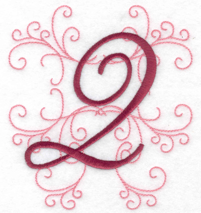 Embroidery Design: 2 large 4.46w X 4.97h