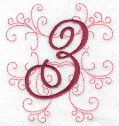 Embroidery Design: 3 large 4.46w X 4.97h