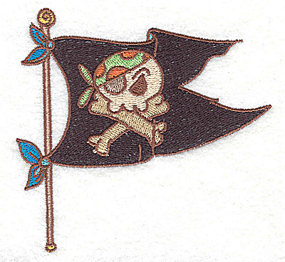 Embroidery Design: Pirate's flag small 3.89w X 3.71h