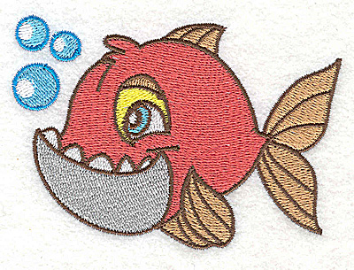 Embroidery Design: Fish A small 3.89w X 2.67h