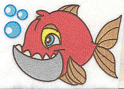 Embroidery Design: Fish A large4.98w X 3.41h