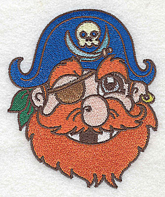 Embroidery Design: Pirate Head small 3.22w X 3.89h