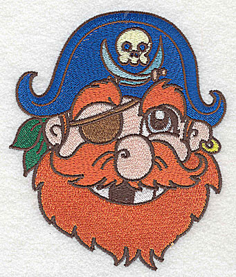 Embroidery Design: Pirate Head large 4.13w X 4.98h