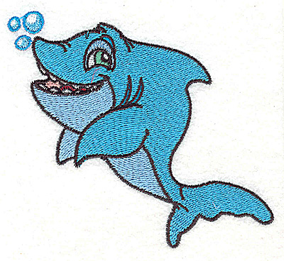 Embroidery Design: Shark small 3.87w X 3.62h
