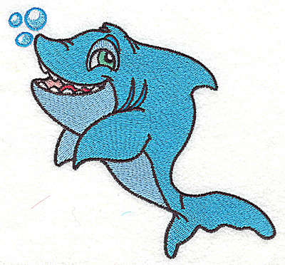 Embroidery Design: Shark large 4.97w X 4.66h