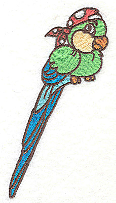Embroidery Design: Parrot large 2.59w X 4.98h