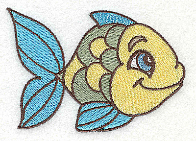 Embroidery Design: Fish B small 3.87w X 2.64h