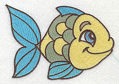 Embroidery Design: Fish B large 4.97w X 3.38h