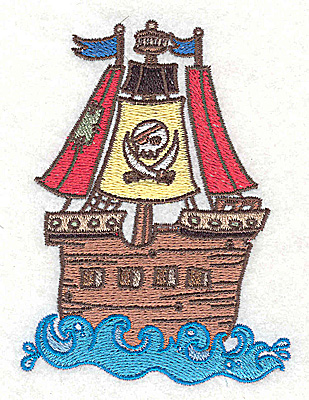 Embroidery Design: Jolly Roger small 2.90w X 3.89h