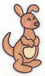 Embroidery Design: Kangaroo  1.98w X 3.50h