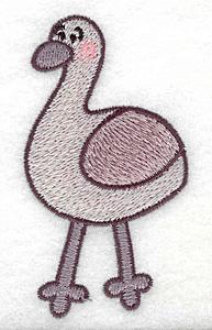 Embroidery Design: Emu 1.92w X 3.52h