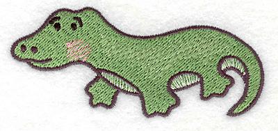 Embroidery Design: Crocodile 3.69w X 1.63h