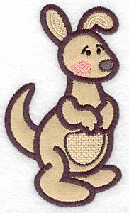 Embroidery Design: Kangaroo applique 2.89w X 5.00h