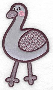 Embroidery Design: Emu applique 2.79w X 4.99h
