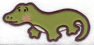 Embroidery Design: Crocodile applique 5.00w X 2.30h
