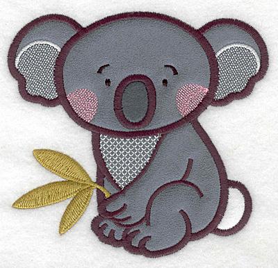 Embroidery Design: Koala triple applique 4.99w x 4.73h