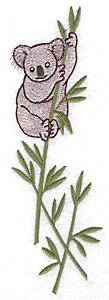 Embroidery Design: Koala in eucalyptus tree large 2.15w X 6.96h