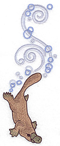 Embroidery Design: Platypus large 2.66w X 6.97h