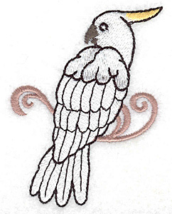 Embroidery Design: Cockatoo 2.41w X 3.38h