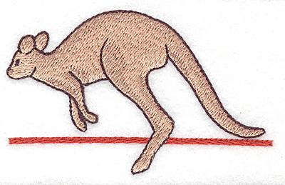 Embroidery Design: Kangaroo realistic 3.89w X 2.38h