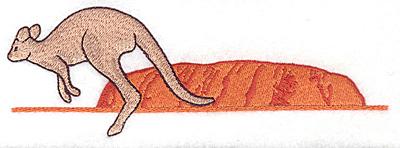 Embroidery Design: Kangaroo and Ayers Rock 6.92w X 2.38h