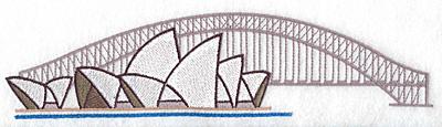 Embroidery Design: Sydney Opera House large9.94w X 2.41h