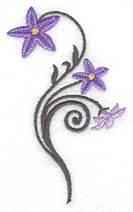 Embroidery Design: Royal Bluebell small 2.36w X 3.84h