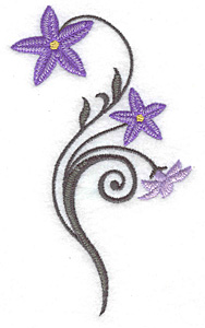 Embroidery Design: Royal Bluebell small 3.03w X 4.96h