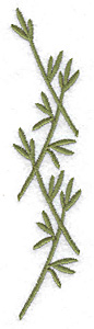 Embroidery Design: Eucalyptus branch large 1.06w X 4.95h