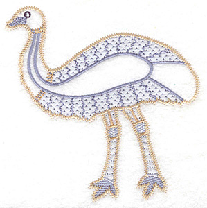Embroidery Design: Emu artistic 4.61w X 4.96h