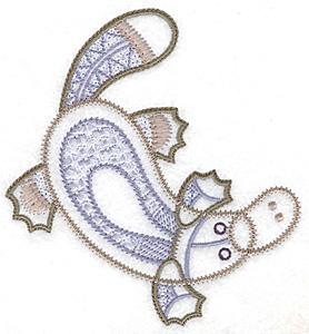 Embroidery Design: Platypus artistic 4.53w X 4.83h