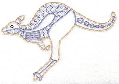 Embroidery Design: Kangaroo artistic 6.94w X 4.82h