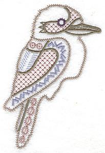 Embroidery Design: Kookaburra artistic 3.26w X 4.83h
