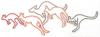 Embroidery Design: Kangaroo troop large 6.97w X 2.51h