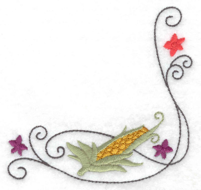 Embroidery Design: Ear of corn 3.87w X 3.87h