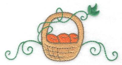 Embroidery Design: Fruit basket  3.83w X 2.00h