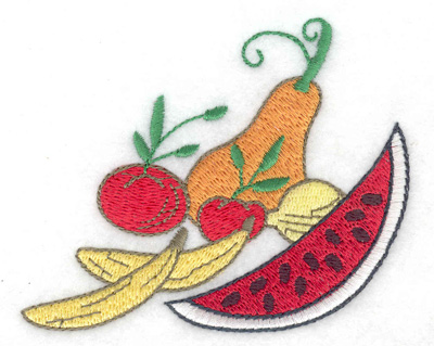 Embroidery Design: Fruits and Veggies 3.74w X 3.07h