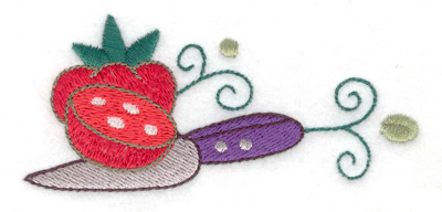 Embroidery Design: Tomatoes with knife 3.84w X 1.74h